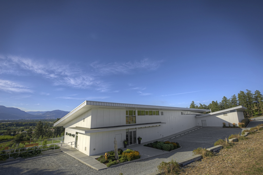 LEED (Leadership in Environmental and Energy Design) certified building at Tantalus Vineyards in Kelowna